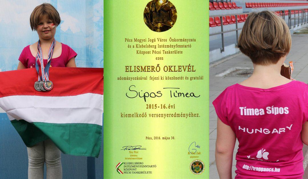 A legfiatalabb szervátültetett sportoló elismerése
