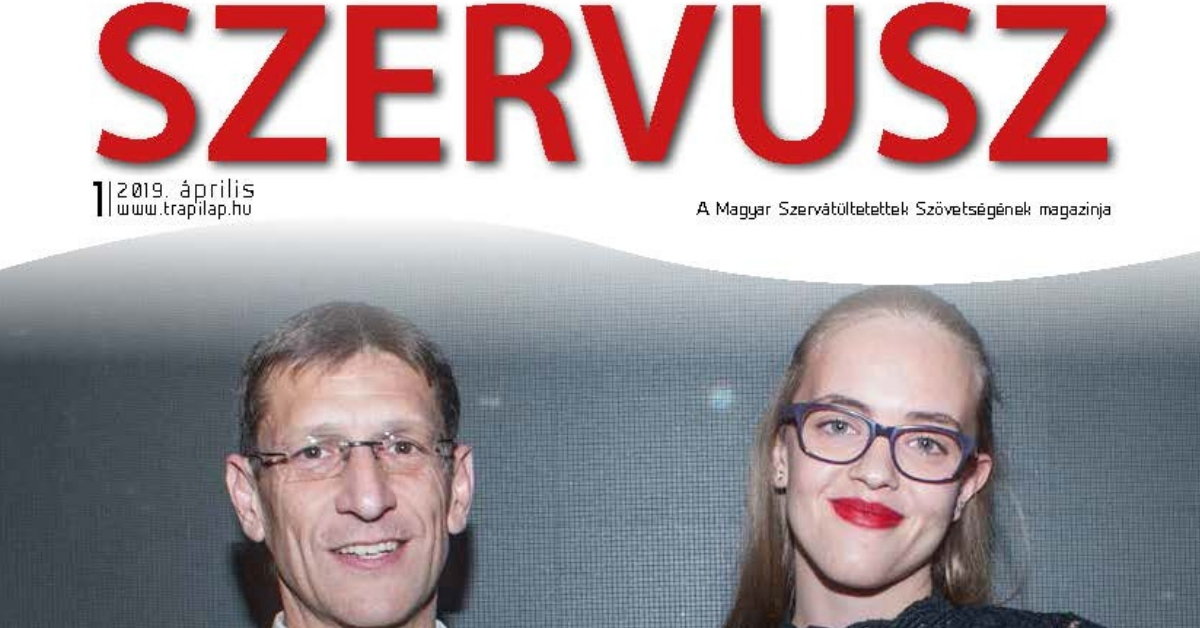 Megjelent a SZERVUSZ újság 2019-es első száma