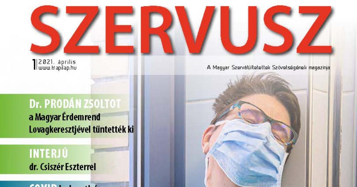 Megjelent a SZERVUSZ újság 2021-es első száma